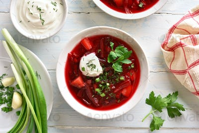 Beetroot soup, borscht