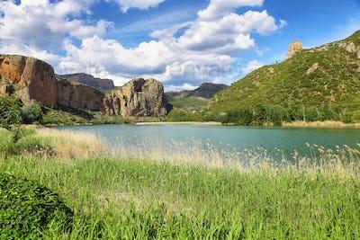 Reservoir of Sant Llorenc de Montgai in Lleida, Catalonia.