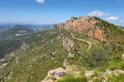 Serra de Mont-Roig in the Lleida Pre-Pyrenees, Catalonia.