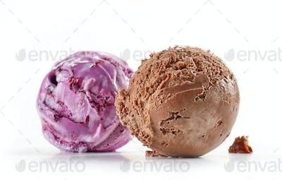 chocolate and blueberry ice cream