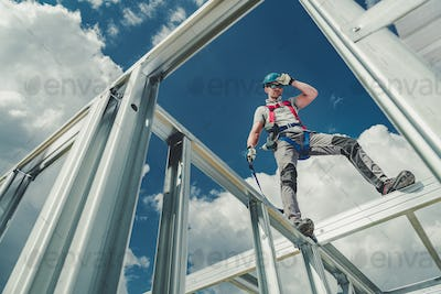 Working Using Safety Harness