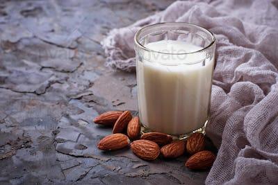 Non-dairy vegan almond milk