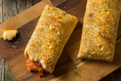 Unhealthy Microwaved Pizza Pockets
