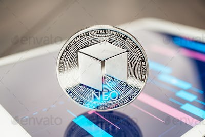 neo cryptocurrency on the tablet