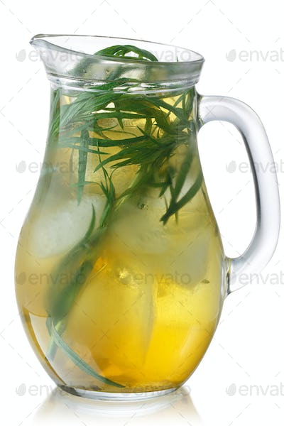 Iced tarragon drink jug, paths