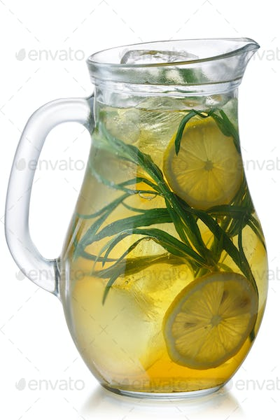 Iced tarragon lemonade jug, paths