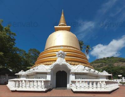 Buddhist dagoba (stupa) in Golden Temple, Dambulla, Sri Lanka