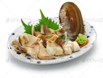 pacific razor clam sashimi