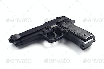 realistic metal imitation of a real gun