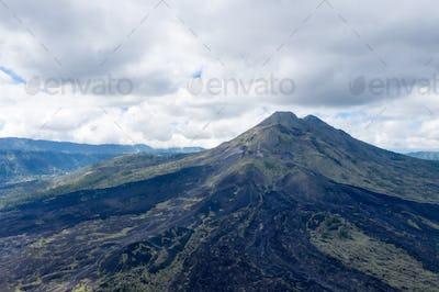 Mount Agung volcano closeup