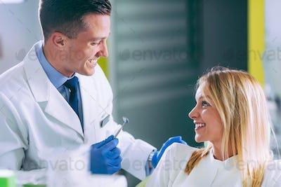 Young Woman Having a Dental Check-up