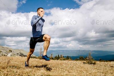 man athlete running