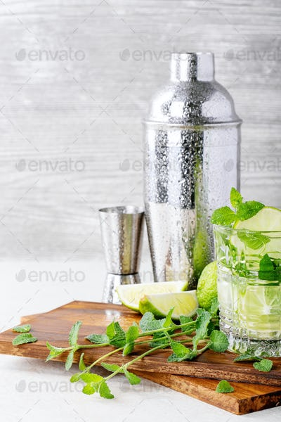 Home made mojito cocktail