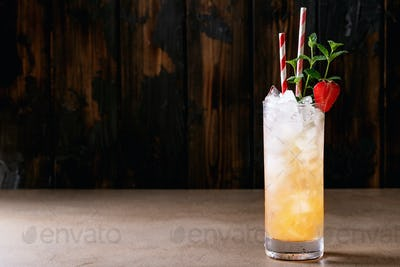 Blood orange cocktail with gin