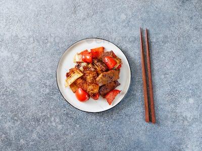 Szechuan traditional dish Hui Guo Rou
