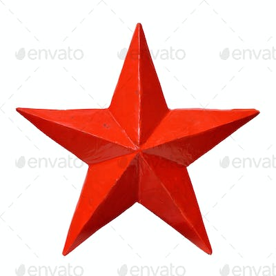 Red five-pointed star
