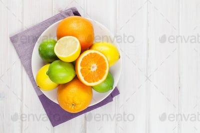 Orange, lime and lemons