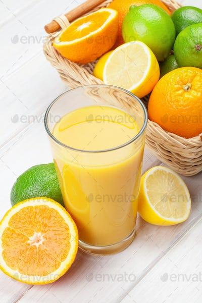 Orange juice and citrus fruits