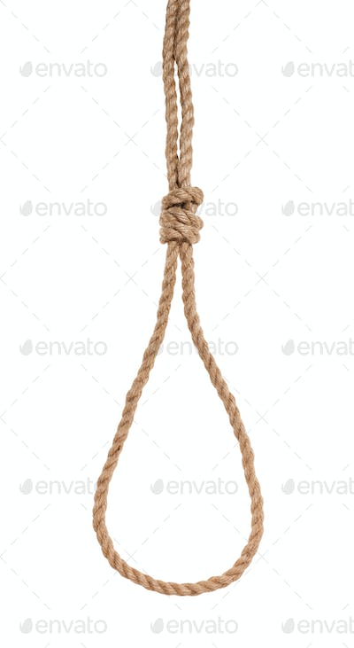 another side of slip noose with scaffold knot