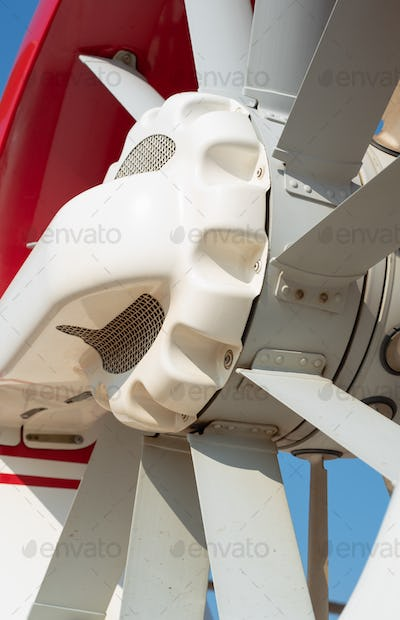 Propeller at the tail of helicopter