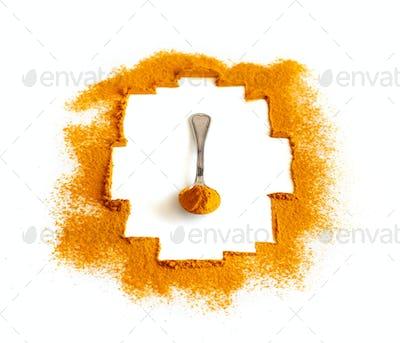 Turmeric powder or Curcuma