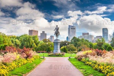 Public Garden in Boston, Massachusetts