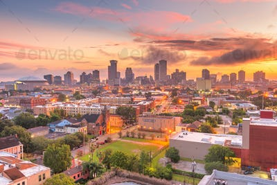 New Orleans, Louisiana, USA downtown city skyline