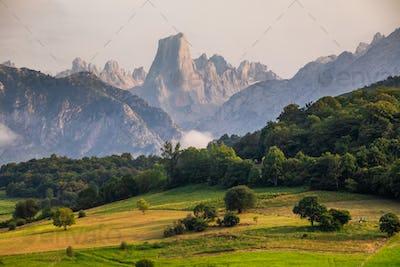 Naranjo de Bulnes known as Picu Urriellu in Asturias, Spain