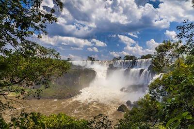 Beautiful landscape with views of the Iguazu Falls. Argentina