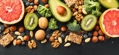 Healthy food lifestyle background