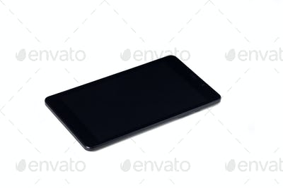 Close-up of a tablet computer. Isolated on a white background.