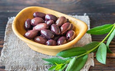 Bowl of kalamata olives