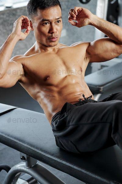 Man doing abs workout