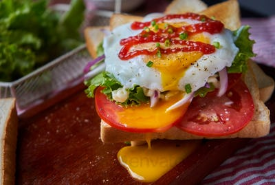 Open-face sandwich