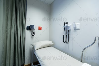 Empty medical check-up room in hospital