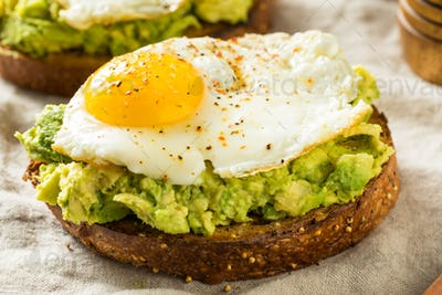 Homemade Avocado Toast with Eggs