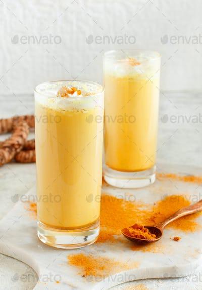 Placeit – Golden milk with turmeric powder