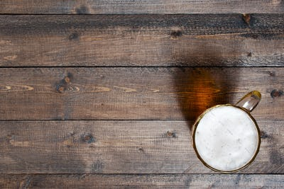Wooden Background with Beer