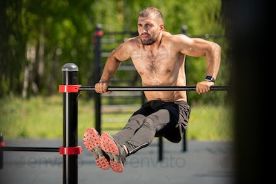 Working out on bar