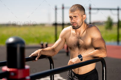 Athlete working out