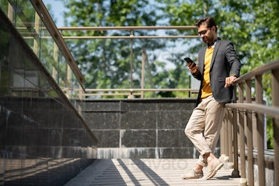 Guy with smartphone