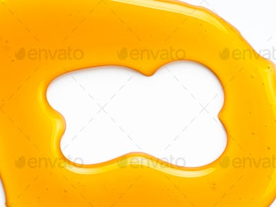 Honey background or abstract pattern, isolated on white