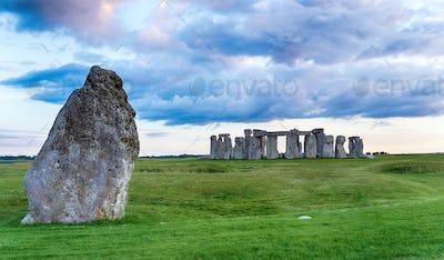 Dusk over Stonehenge