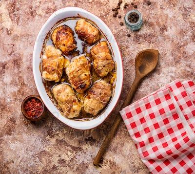 Chicken meat rolls