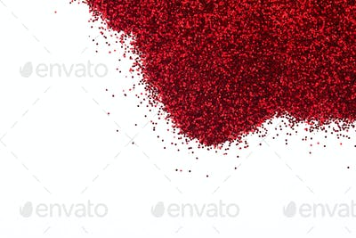 red glittering background closeup