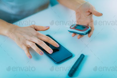 Measuring Glucose Levels and Entering Data into Smart Phone