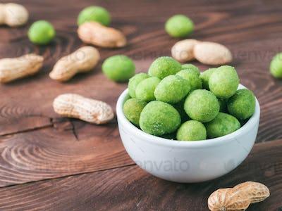 Peanut in vasabi glaze