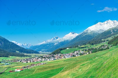 Country of Zuoz in Engadine valley