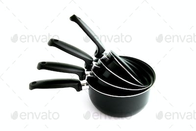 Different sized pans
