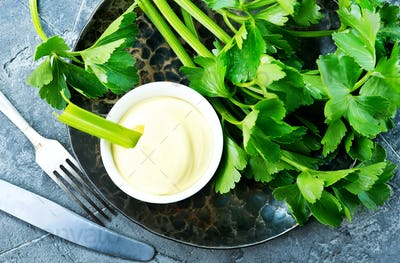 celery with sauce